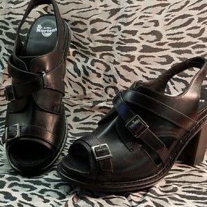 Dr. Martens 8.5 black leather heels